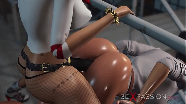 3dxpassion.com. Harley Quinn fucks laborious a feminine jail warden with a strapon