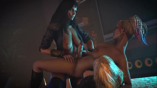 Threesome hermaphroditism Surprise Girl Harley Quinn & Black Canary